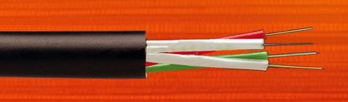 Microcable de distribución multitubo para uso exterior