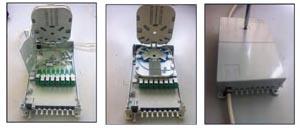 Caja de derivación interior para 8 conectores