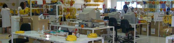 Laboratotio de montaje de fibra óptica