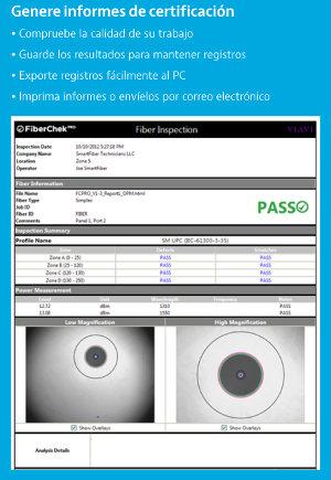 certificación y comprobación de redes de Fibra óptica
