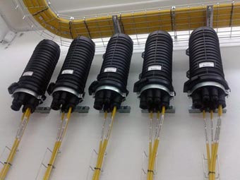 Protector de empalmes con capacidad para 1008 fibras ópticas