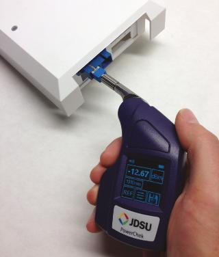 Medidor de potencia óptica para circuitos de fibra óptica