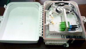Caja mural IP66 para splitter y distribución con veinticuatro salidas
