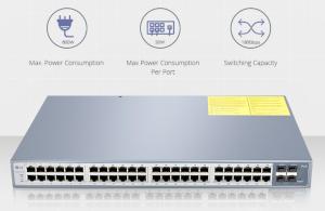 Switches Gigabit con puertos PoE+ y de fibra óptica