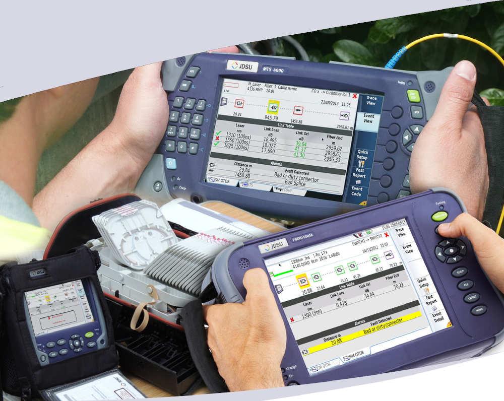 Aplicación de software para OTDR
