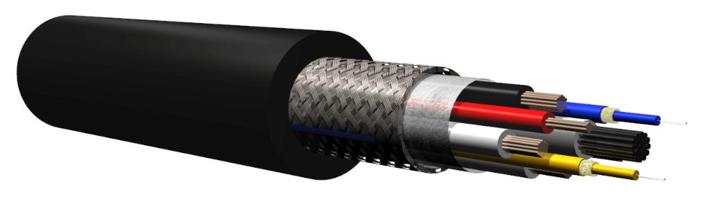 Cables híbridos tipo SMPTE para cámaras HD en interiores y exteriores